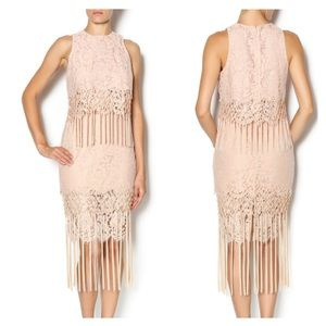Endless love blush fringe lace two piece medium